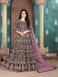 Georgette Indo Western Gown