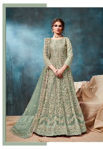 Net Indo Western Gown