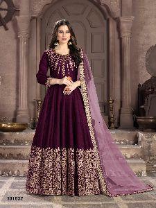 Silk Indo Western Gown
