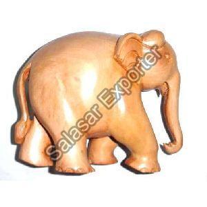 Wooden Plain Elephant Statue
