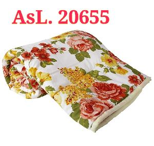 Floral Print Double Bed Quilt