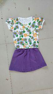 Girls T Shirt and Skirt Set