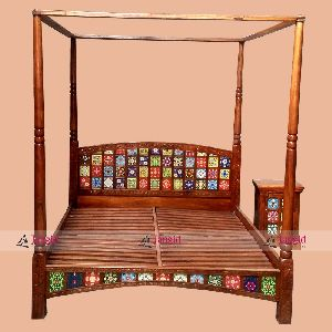 Indian Wooden Bed