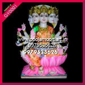 Marble Gayatri Maa Statues