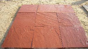 Agra Red Sandstone Paving Slabs