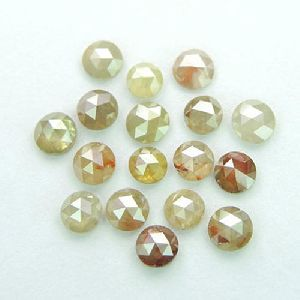 Natural Color Rose Cut Icy Milky Loose Diamonds