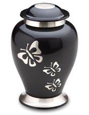 Midnight Butterfly Cremation Urn
