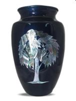 Mother Of Pearl Tree Of Life Cremation Urn