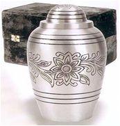 Pewter Bouquet Brass Cremation Urn