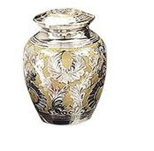Silver Gold Classic Small Cremation Urn