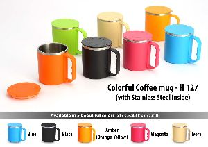 Colorful SS Coffee Mug With Box