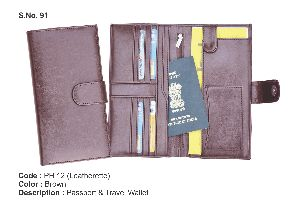 Leather Passport and Travel Wallet