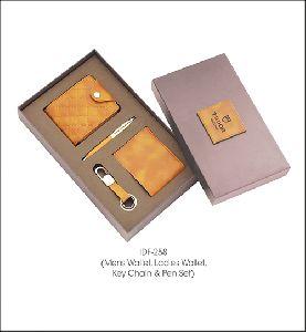 Men Wallet, Ladies Wallets, Key chain and Pen Set