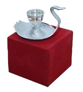 Silver Plated Swan Candle Stand