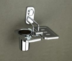 Keri Series Stainless Steel Soap Dish With Tumbler Holder