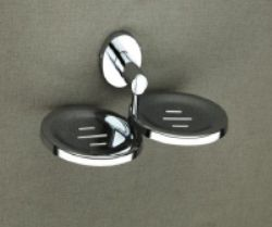 Round Series Stainless Steel Double Soap Dish
