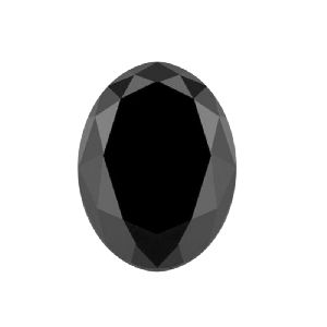 10 X 8 MM Oval Shape Natural Loose Black Diamond