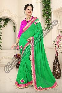 Blue Whale Georgette Bollywood Saree