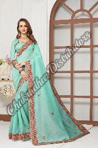 Cotton Silk Odhni Festival Saree