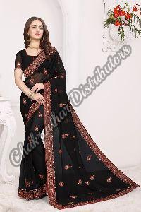 Georgette Kashmiri Queen Wedding Saree