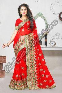 Lifestyle Georgette Wedding Saree