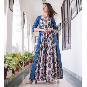 Long Jacket Designer Gown