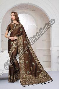 Silk Satin Heritage Party Wear Saree