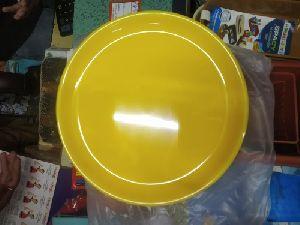 10 Inch Yellow Plastic Plate
