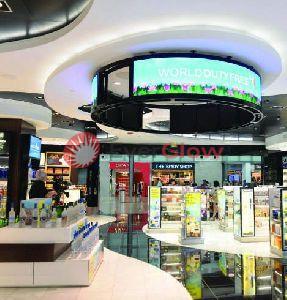 Ceiling Circular LED Display