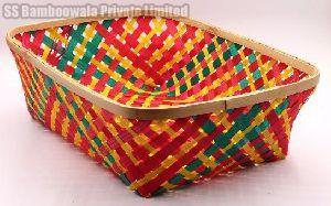 Rectangular Bamboo Basket