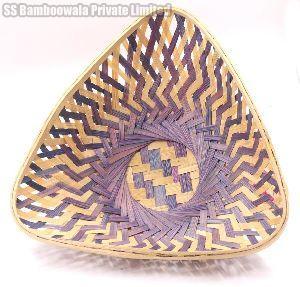 Triangle Bamboo Basket