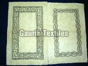 Cotton Tufted Printed Bath Mat