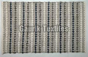 Striped Jute Cotton Rug