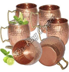 Copper Hammered Cups