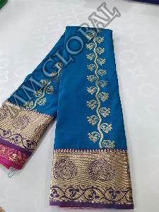 Semi Silk Emboss Sarees