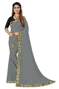 Womens Fancy Georgette Saree With Blouse Piece