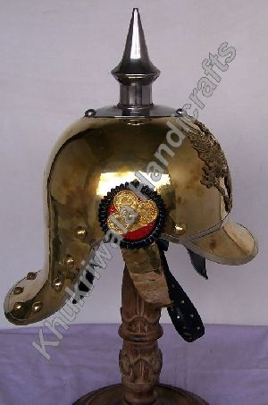 H118 Brass Pickelhaube Helmet