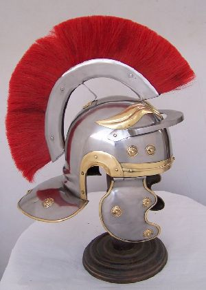 H15 Roman Helmet With Red Crest