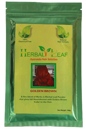 Herbal Leaf Golden Brown Hair Powder