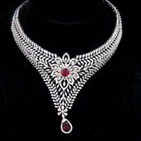 Diamond Necklace Set (DS-2119)