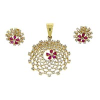 Diamond Pendant Set (DP-2308)