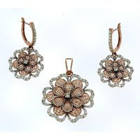 Diamond Pendant Set (DP-2458)