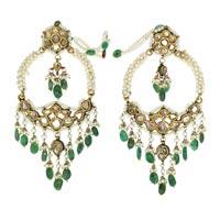 Kundan Polki Earrings (KE-2072)