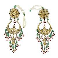 Kundan Polki Earrings (KE-2073)