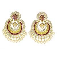 Kundan Polki Earrings (KE-2146)