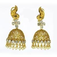Kundan Polki Earrings (KE-2149)