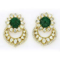 Kundan Polki Earrings (KE-2153)