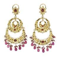 Kundan Polki Earrings (KE-2193)