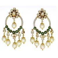 Kundan Polki Earrings (KE-2219)