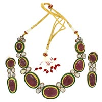 Kundan Polki Necklace (KSE-2098)